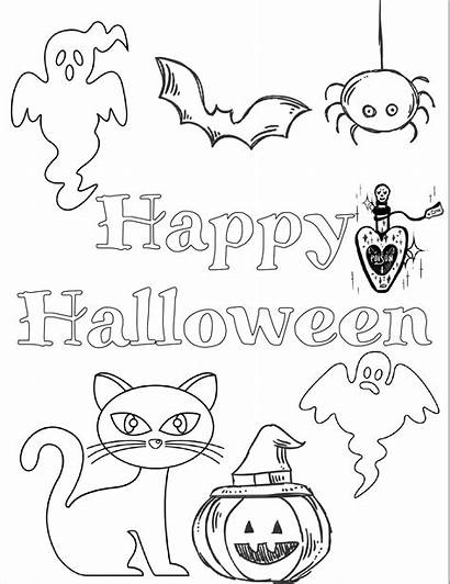 Halloween Coloring Pages Printable Printables Scary Easy