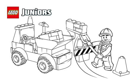 Lego Tow Truck Coloring Page Coloring Page