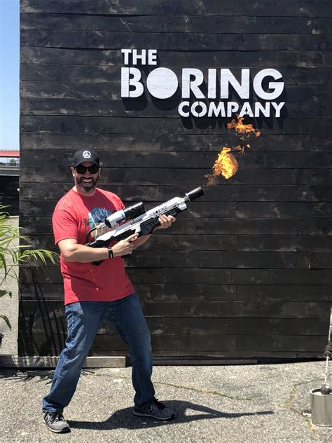 boring  flamethrower pickup party  teslarati
