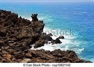 Atlantic Lava Stone : stock photo of lanzarote el golfo atlantic ocean volcanic shore lanzarote csp10821142 ~ Markanthonyermac.com Haus und Dekorationen