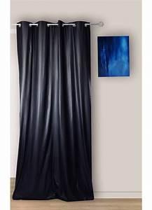 Rideau A Oeillet : rideau uni occultant avec oeillet noir beige gris ~ Dallasstarsshop.com Idées de Décoration