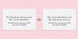 Image gallery outside envelope format for How to address wedding invitations single envelope