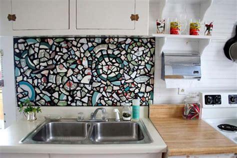 cheap diy kitchen backsplash 15 inexpensive diy kitchen backsplash ideas and tutorials