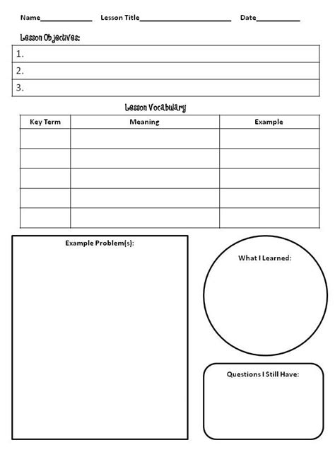 Note Taking Template 29 Best Note Taking Templates Images On