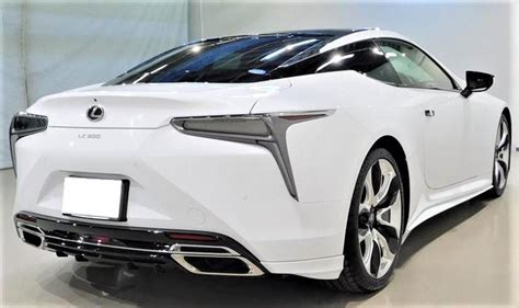 trd japan   lexus lc  rear bumper side