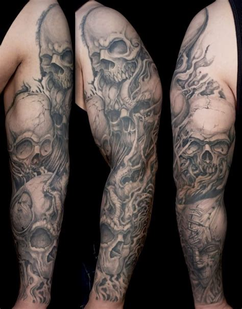 Skulls Sleeve  Tattoo Ideas  Pinterest  Sleeve, Tattoo