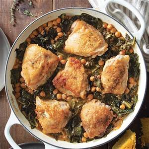 Hot Sauce-braised Chicken And Greens