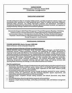Resume Sample Administrative Support Project Management Executive Assistant Resume Example Sample