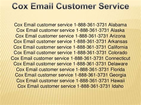 Cox Business Tech Support by Cox Email Customer Service 1 888 361 3731 California Cox
