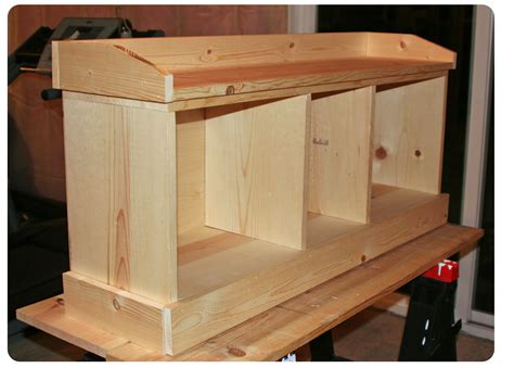 building  entryway bench  woodworking