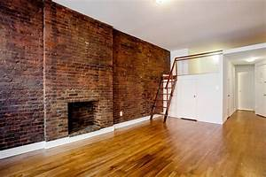 Interior, Of, Apartment, Exposed, Brick, Wall, And, Fireplace, 112