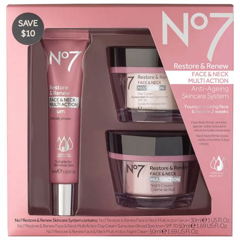 Boots No.7 Restore and Renew Multi Action Skincare System