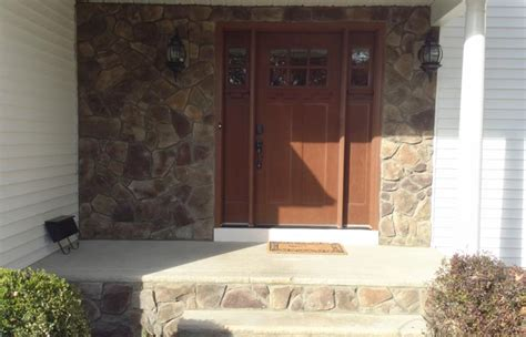 decorative stone siding  front door   providence