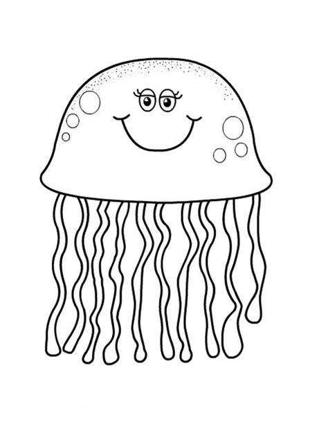 cartoon jellyfish coloring pages print coloring