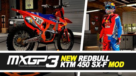 New Red Bull Ktm 450 Sx-f And Gear Mods!