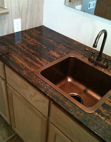 table kitchen island copper counter tops copper countertop