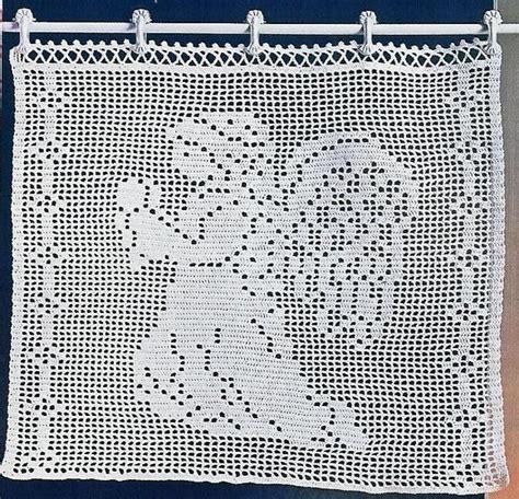 crochet rideaux de noel le de crochet et tricot d