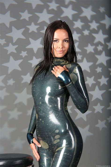 Girls In Shiny Black Latex Catsuits Hot Girl Hd Wallpaper