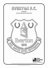 Coloring Pages Everton Cool Soccer Drawing Liverpool Club Logos Madrid Football Fc Aston Villa Colouring Printable Newcastle United Template Futbol sketch template