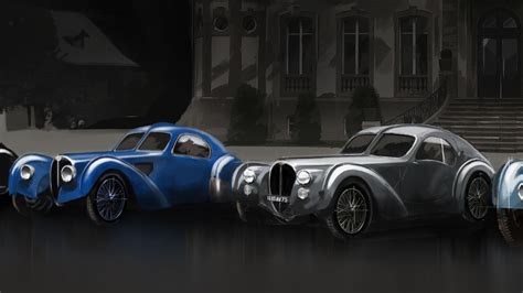 There are only two bugatti type 57sc atlantics in the world. Bugatti Type 57SC Atlantic celebrates its 80th birthday and it still looks stunning