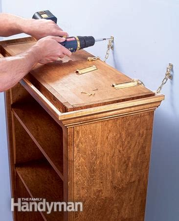 how to secure bookcase to wall bookcase and shelf tips the family handyman