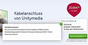 Unitymedia Online Rechnung : unitymedia hebt preis f r kabelanschluss an ~ Themetempest.com Abrechnung