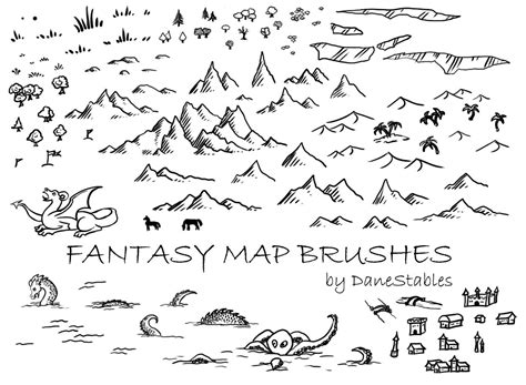 fantasy map symbols buscar  google mapas