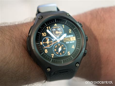 smartwatch android casio s wsd f10 android wear smartwatch is rugged like