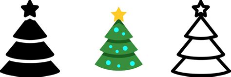 christmas tree icon free download png and vector