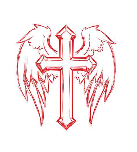 cross wings tattoo  image  pixabay