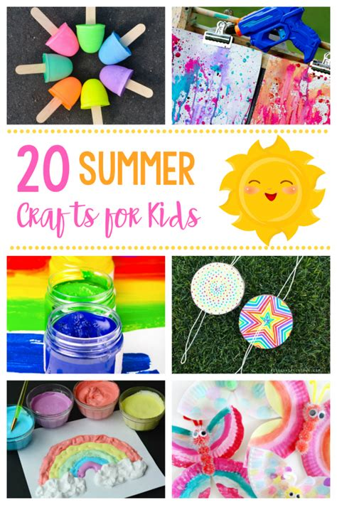 20 simple amp summer crafts for 414 | Summer Crafts for Kids 683x1024