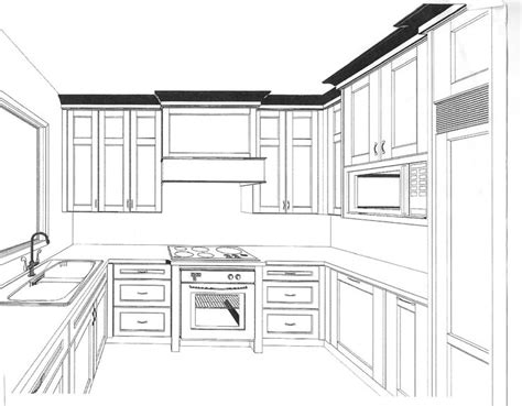 Kuche Zeichnung by Draw Kitchen Cabinets Drawing Images Cabinet Design Your