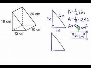 Triangular Prism Surface Area - YouTube