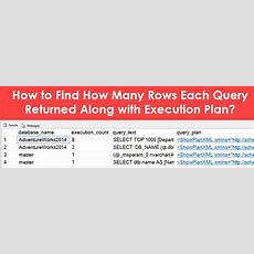 How To Find How Many Rows Each Query Returned Along With