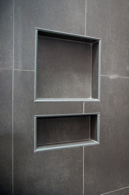 recycled engineered fiber cement shower niches