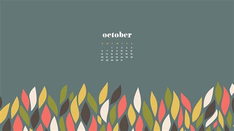 october  calendar wallpapers  wallpapersafari