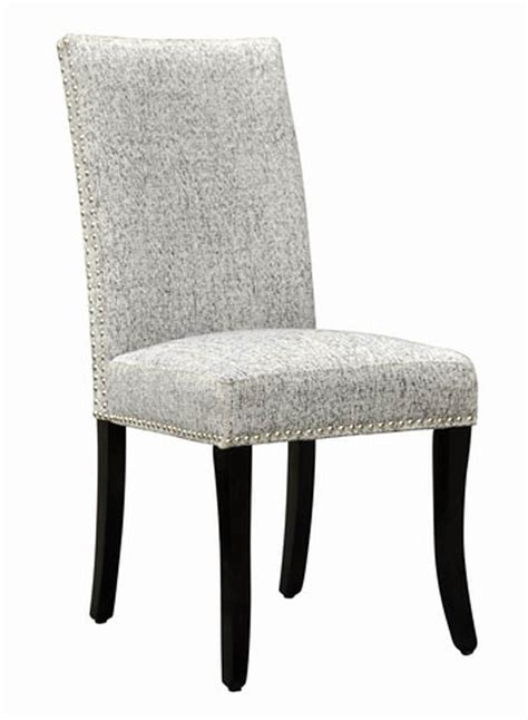 accent nail side chair set of 2 light gray lcdesias