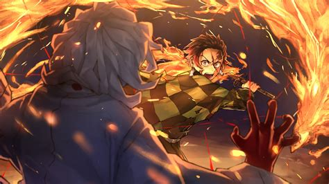 wallpaper kimetsu  yaiba digital art artwork