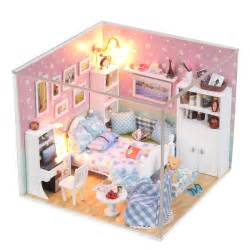 aliexpress com buy wooden toys house doll miniature 3d diy house room diy mini series small