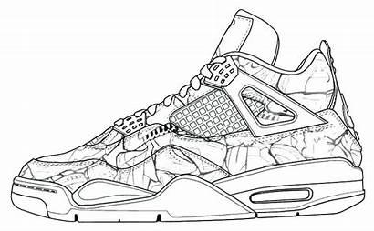 Coloring Shoe Shoes Pages Jordan Tennis Getcolorings