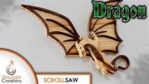 Dragon Scroll Saw Wood Art Pattern - Waylight Creations
