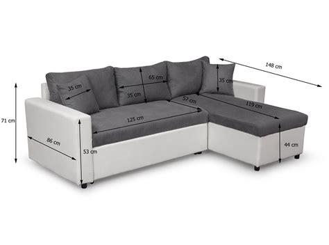 Canapé D'angle Réversible Et Convertible Avec Coffre Gris