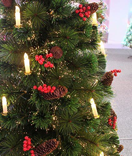 80th century noble fir pre lit fiber optic christmas tree