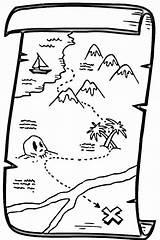 Treasure Coloring Pirate Map Colouring Maps Printable Clipart Drawing Chest Cartoon Canada Schatzkarte Malvorlage Piraten Animated Fantasy sketch template