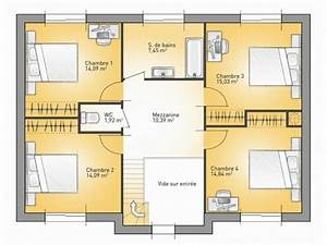 Plan Maison 4 Chambres Avec Suite Parentale : plan maison 4 chambres avec suite parentale etage id es de travaux ~ Melissatoandfro.com Idées de Décoration