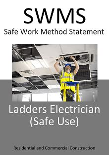ladders electricians safe  swms