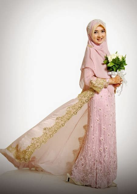 model baju pengantin muslimah syari terbaru