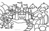 Coloring Candy Pages Candyland Printable Castle Land Activity Sheets Princess Cool2bkids Theme Cane sketch template