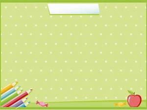 School Days Powerpoint Templates - Education, Lime, Orange ...