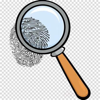Magnifying Glass Clipart Lente Cliparts Fingerprint Ingrandimento